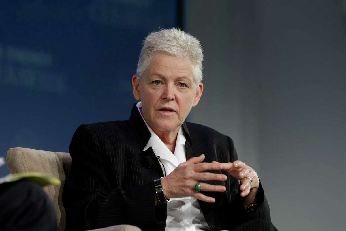 Gina McCarthy Administrator of the US Environmental Protection Agency speaks during the keynote luncheon during IHS Energy CERAWeek Thursday April 23, 2015 at the Hilton Americas-Houston. (Billy Smith II / Houston Chronicle)