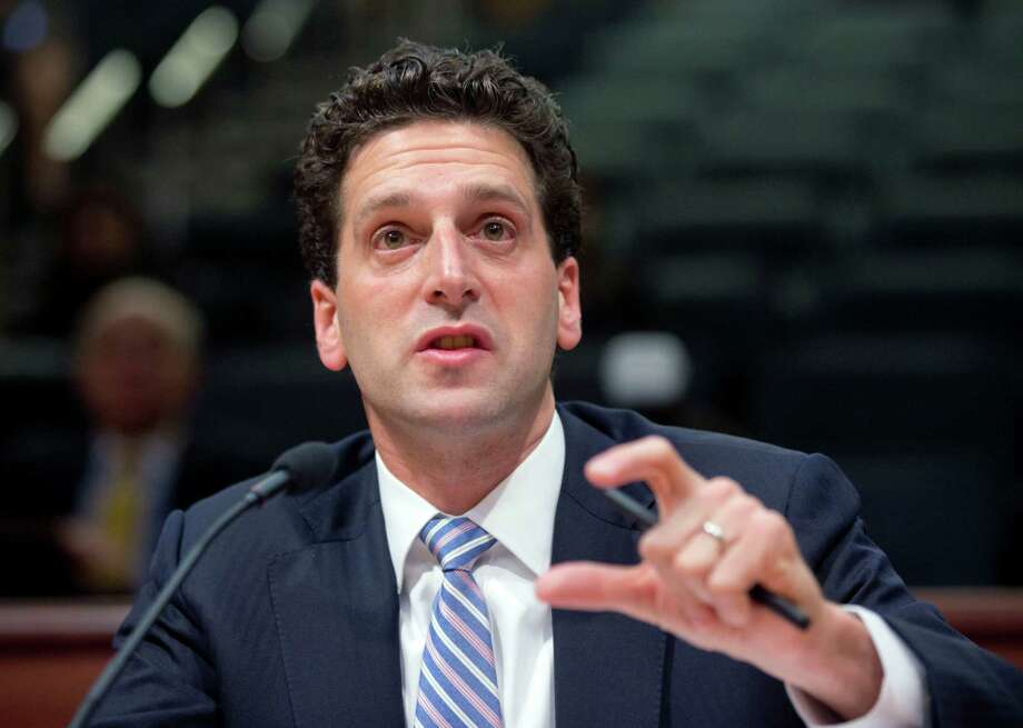 Benjamin Lawsky, superintendent of the New York State Department of Financial Services, speaks during a Senate hearing on Thursday, April 23, 2015, in Albany, N.Y. Deutsche Bank has agreed to pay $2.5 billion in a settlement with U.S. and British authorities over the manipulation of benchmark interest rates used globally for its own financial gain. (AP Photo/Mike Groll)  ORG XMIT: NYMG101 Photo: Mike Groll / AP