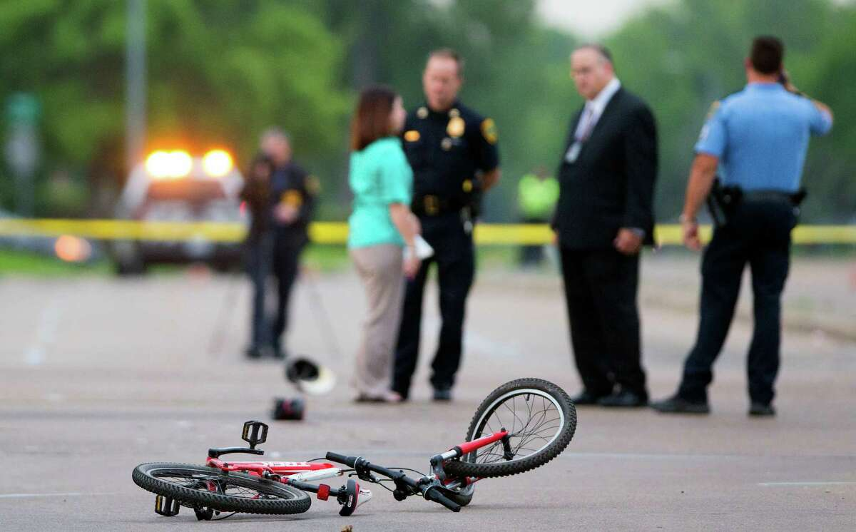 Police say the officer had a green light and tried to avoid the bicyclist, but struck the man, killing him.