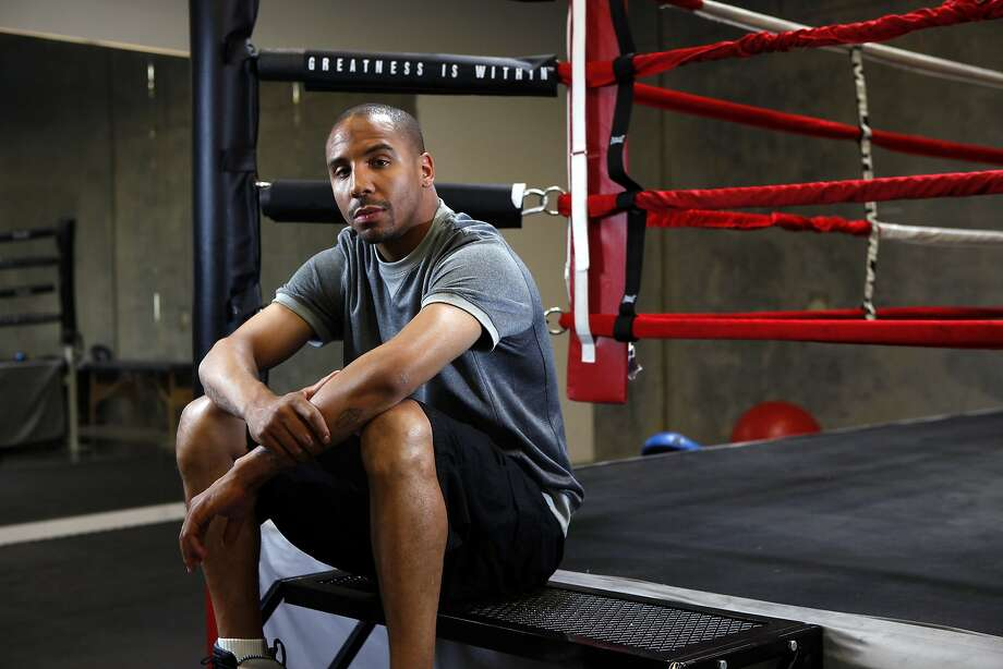 Andre Ward, shown at his private gym in Hayward, will defend his super middleweight title against Paul Smith on June 20 at Oracle Arena. Photo: Michael Short, The Chronicle
