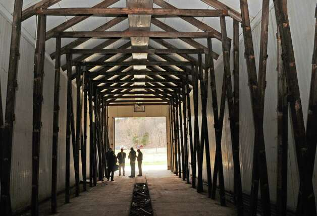 One of the former mushroom barns that will be converted to grow marijuana during Compassionate Relief Centers of New York, Inc. Open House on Thursday April 23, 2015 in Jackson, N.Y. (Michael P. Farrell/Times Union) Photo: Michael P. Farrell / 00031546A