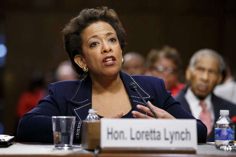 FILE - In this Jan. 28, 2015 file photo, Attorney General nominee Loretta Lynch testifies on Capitol Hill in Washington. Lynch has won confirmation to serve as the nation's attorney general, ending months of delay. The vote was 56-43 in the Senate Thursday.   (AP Photo/J. Scott Applewhite) ORG XMIT: WX104 Photo: J. Scott Applewhite / AP