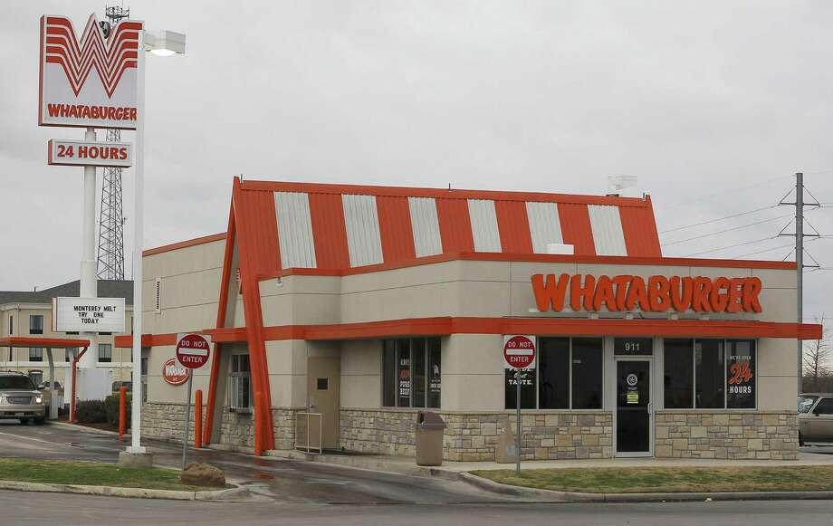 Whataburger Photo: Kin Man Hui, San Antonio Express-News / ©2013 San Antonio Express-News