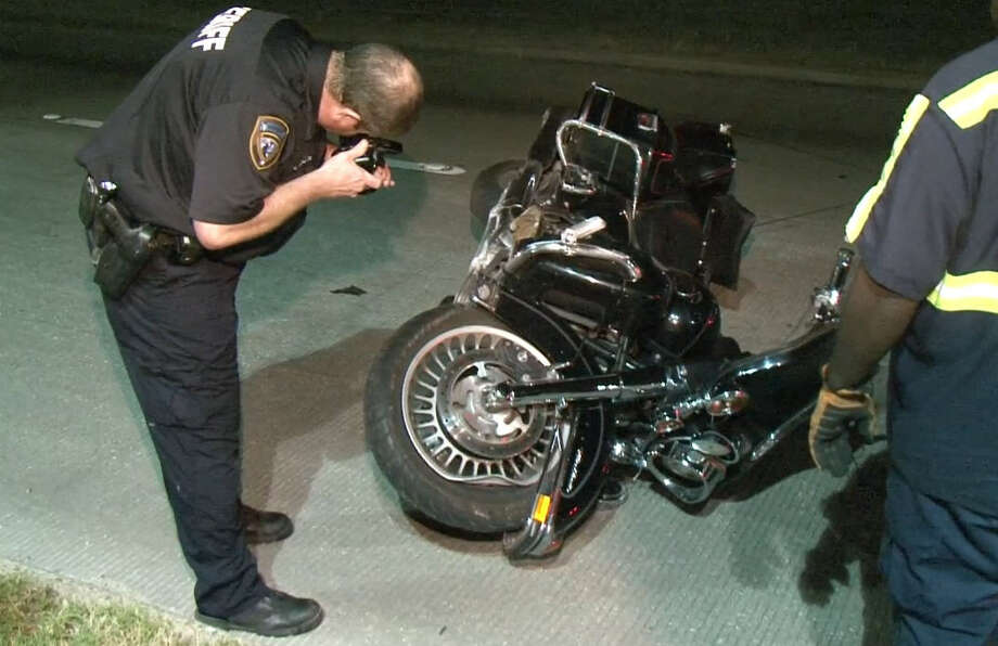 A woman died and a man was severely injured early Friday morning in a motorcycle crash in north Harris County. The wreck happened in the 200 block of FM 1960 near East Gatewick, according to the Harris County Sheriff's Office. Photo: Tim Bristow, Metro Video