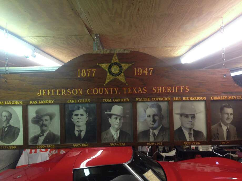 A plaque showing former sheriffs of Jefferson County from 1877 to 1947.  Photo: Carl Griffith