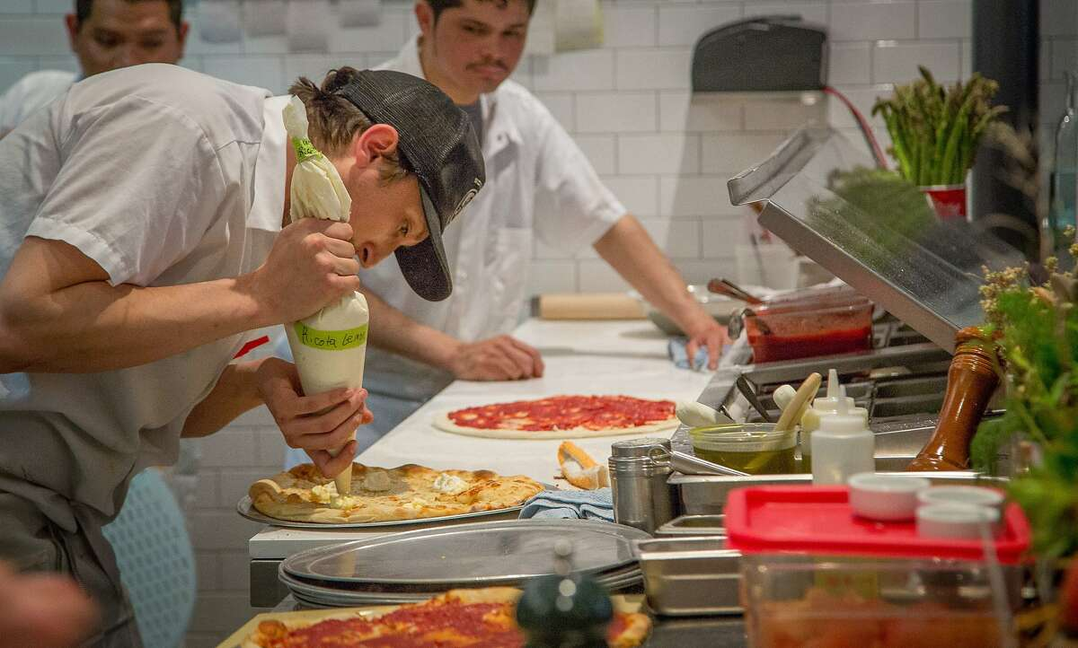 Pizza being made at Jersey in San Francisco, Calif., on April 23rd, 2015.