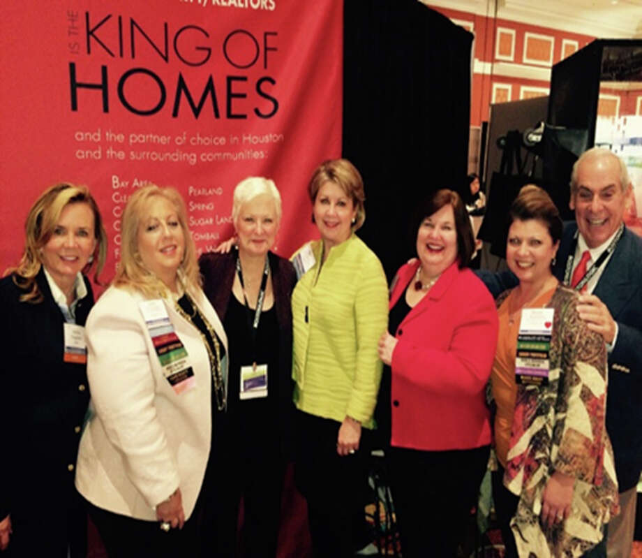 At the conference were, from left, Debbie Daugherty, executive vice president Anne Incorvia, Becky Page, president and COO Cheri Fama, sales manager Debbie Youens, and chairman and CEO John A. Daugherty Jr.