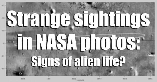 UFO believers say there is more to these NASA images than the space agency wants the public to know. Photo: AFP/Getty Images, Getty Images / 2004 AFP