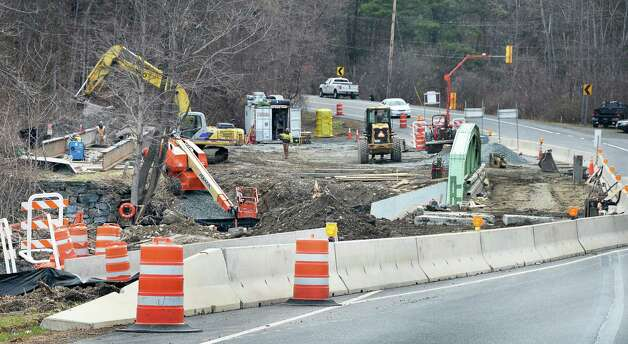 Work has begun on one of the Route 20 bridges over the Kinderhook Creek Friday April 24, 2015 in Nassau, NY.  (John Carl D'Annibale / Times Union) Photo: John Carl D'Annibale