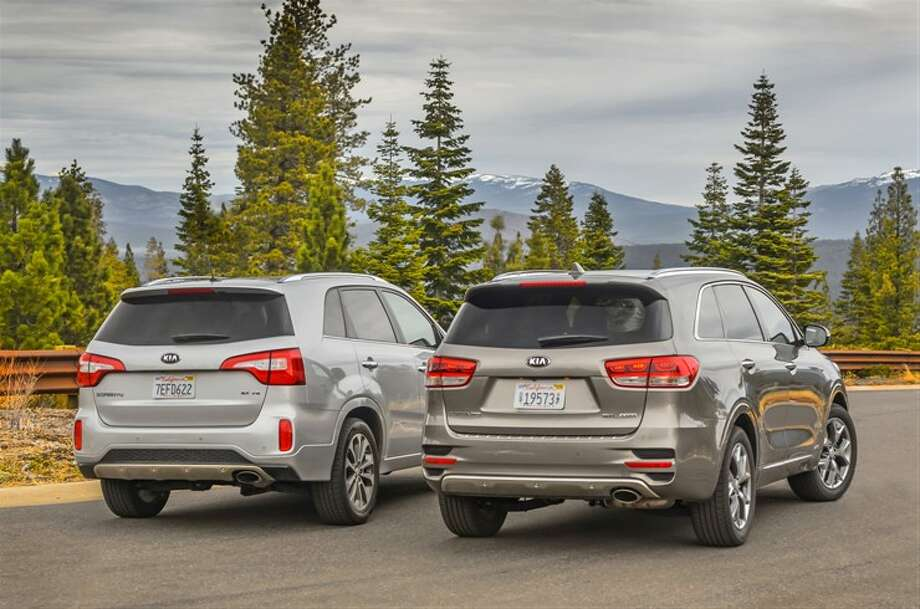A stronger body structure, longer wheelbase, modified platform, and upgraded suspension and steering make the sport ute feel lighter and more agile to maneuver. Pictured: all-new 2016 Sorento (right) and 2015 Sorento. Photo: Kia