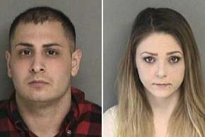 Alexander Nejat (left) and Katherine Stump allegedly robbed items from a man who had responded to her online ad, Santa Clara County sheriff's investigators say.