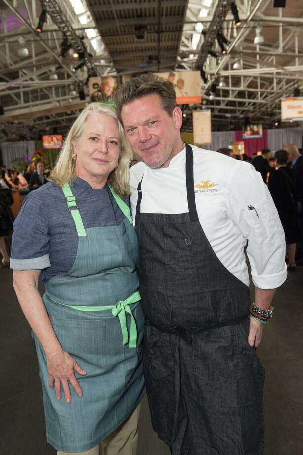 Nancy Oakes and Tyler Florence at the 28th annual Star Chefs & Vintners Gala on April 21, 2015. Photo: Susana Bates For Drew Altizer, Drew Altizer Photography / ©2015 Drew Altizer Photography