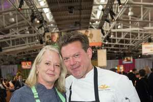 Nancy Oakes and Tyler Florence at the 28th annual Star Chefs & Vintners Gala on April 21, 2015.