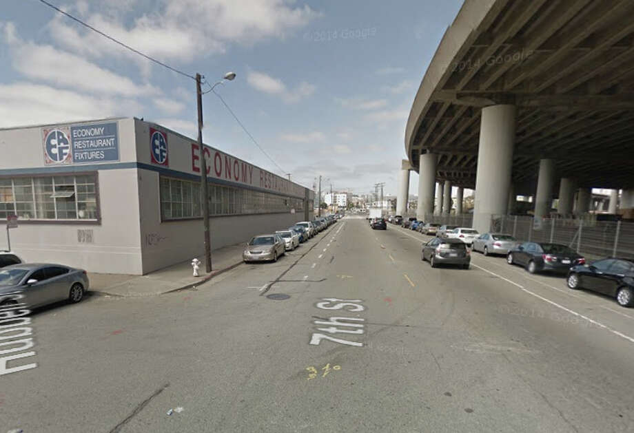 A homeless man was beaten in the head with a metal baseball bat on the 1200 block of 7th Street near Hubbell Street. Photo: Google Maps