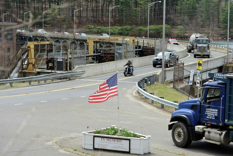 The bridge over the Stevenson Dam is going to be closed for safety improvements starting at 6 a.m. May 2, 2015 and will reopen on May 6, 2015 at 12:01 a.m. The dam carries Route 34 over the Housatonic River between Monroe and Oxford. Photo: Autumn Driscoll / Connecticut Post