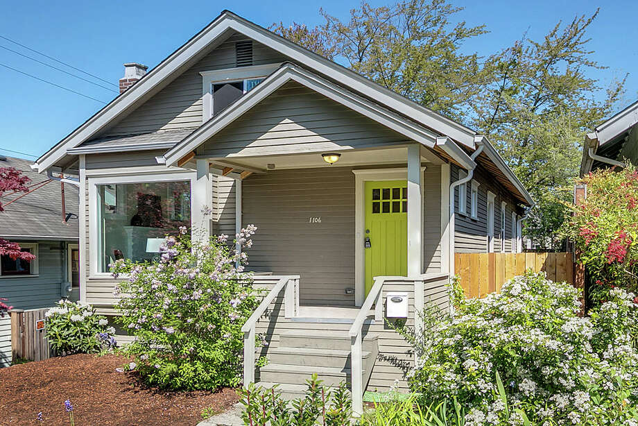 The first home, 1106 N.E. 55th St., is listed for $529,900. The five bedroom, one-and-three-quarters bathroom home features a modern kitchen and a new roof. It has a Walk Score of 95. 