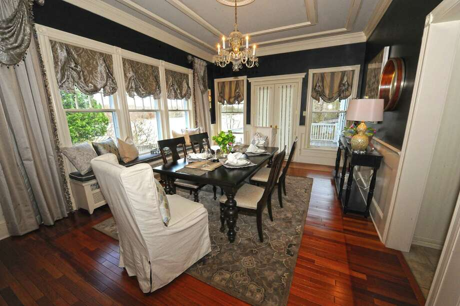 Dining room of the vanguard showhouse Rockledge: A Hudson River Symphony on Tuesday, April 21, 2015 in Glenmont, N.Y. (Lori Van Buren / Times Union) Photo: Lori Van Buren / 00031543A