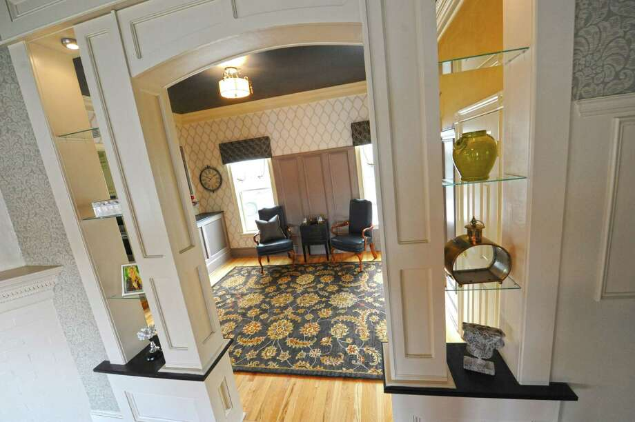 2015: Entrance to the Hudson River pour room in the vanguard showhouse Rockledge: A Hudson River Symphony on Tuesday, April 21, 2015 in Glenmont, N.Y. (Lori Van Buren / Times Union) Photo: Lori Van Buren / 00031543A