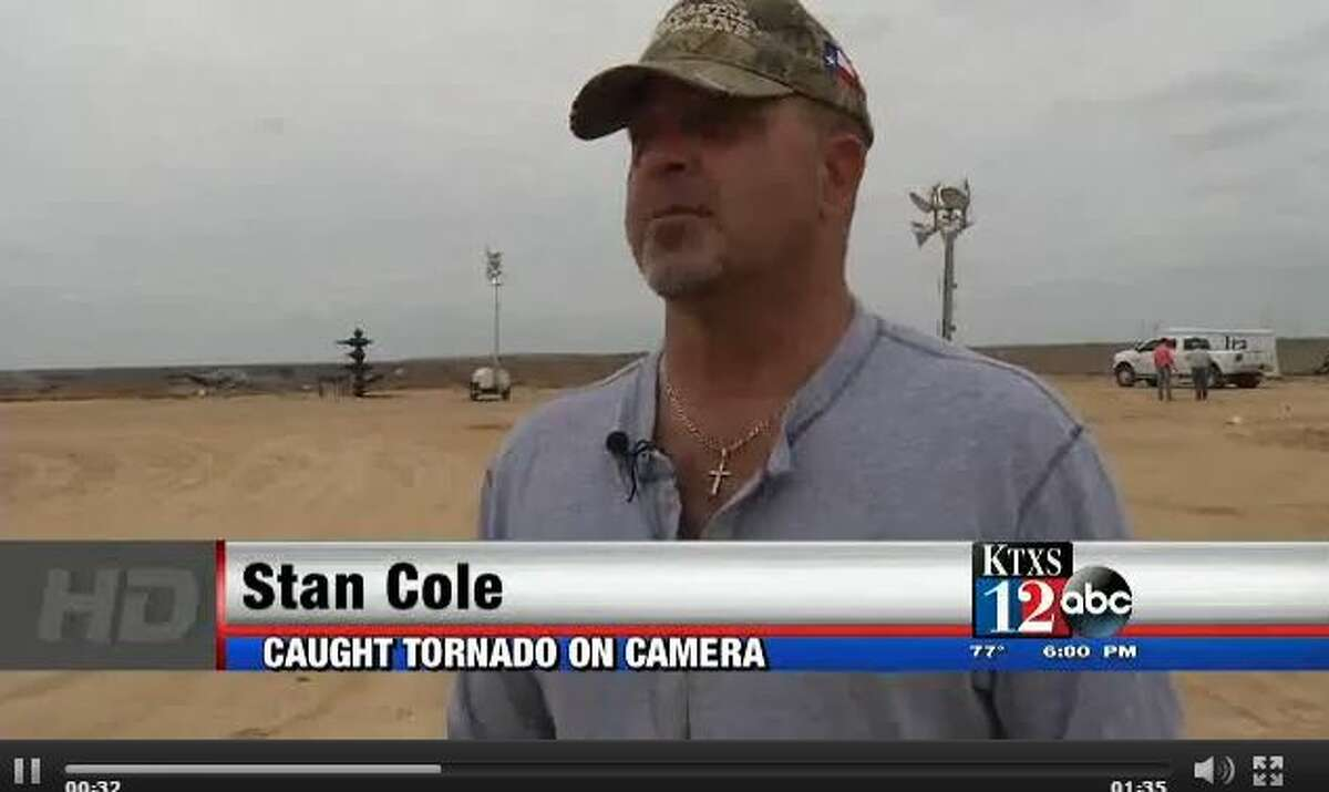 Stan Cole was about 100 yards from a tornado near Loraine when he shot a video April 22, 2015.