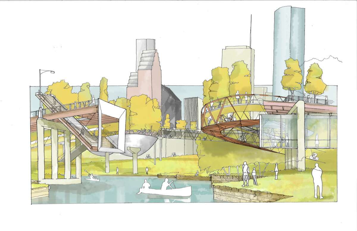 The Pierce Elevated at Buffalo Bayou, as reimagined by architect Marcus Martinez.