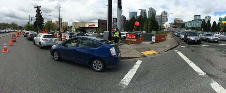 A rush of customers to a Bellevue Chick-fil-A snarls traffic in Bellevue. Photo courtesy of Bellevue Police Department.