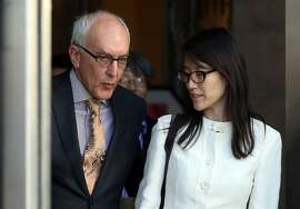 SAN FRANCISCO, CA - MARCH 27:  Ellen Pao (R) leaves the San Francisco Superior Court Civic Center Courthouse with her attorney Alan Exelrod on March 27, 2015 in San Francisco, California. A jury found no gender bias against Reddit interim CEO Ellen Pao and former employee at Silicon Valley venture capital firm Kleiner Perkins Caulfield and Byers. Pao was suing Kleiner Perkins Caulfield and Byers for $16 million alleging she was sexually harassed by male officials.  (Photo by Justin Sullivan/Getty Images)