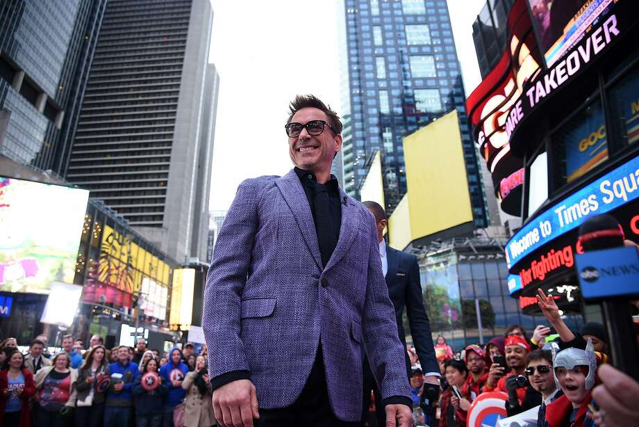 Robert Downey Jr., pictured in Times Square on Friday, April 24, was recently asked some pretty invasive questions in England. Photo: Bryan Bedder, Getty Images For Walt Disney Stu