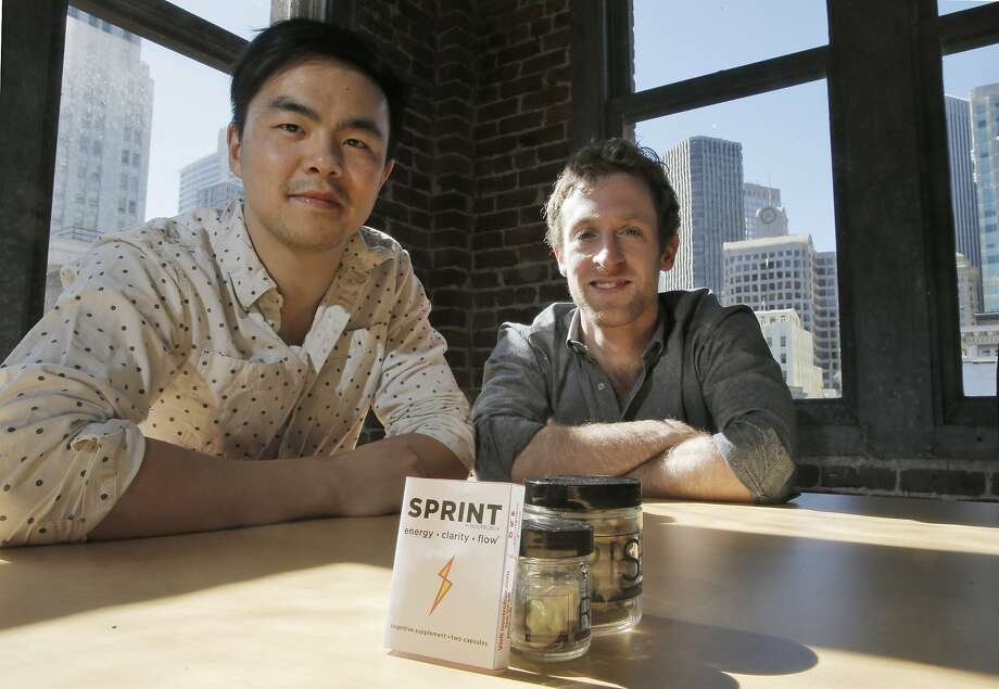 "Michael Brandt (right) and Geoff Woo are co-founders of Nootrobox, which produces nootropics, compounds known as cognitive supplements or ""smart drugs."" Photo: Carlos Avila Gonzalez, The Chronicle"