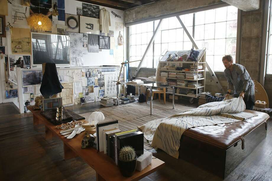 A room of rubble was turned into the studio of Matt Dick's Small Trade Co. in S.F. Photo: Liz Hafalia, The Chronicle