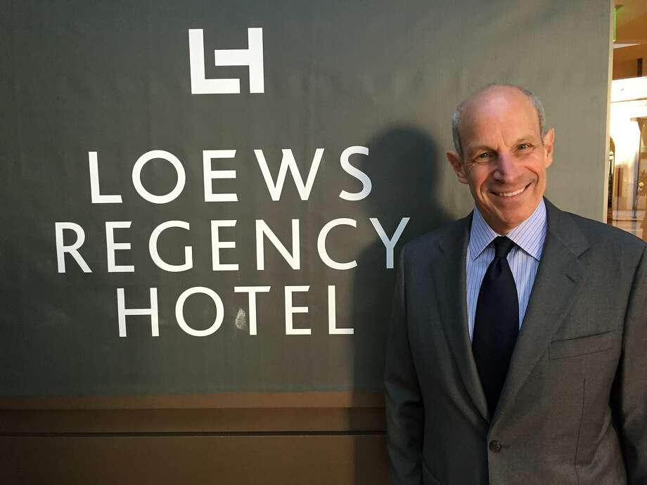 Jonathan Tisch, chairman of Loews Hotels, at the Loews Regency Hotel in San Francisco, April 17, 2015 Photo: Kathleen Pender