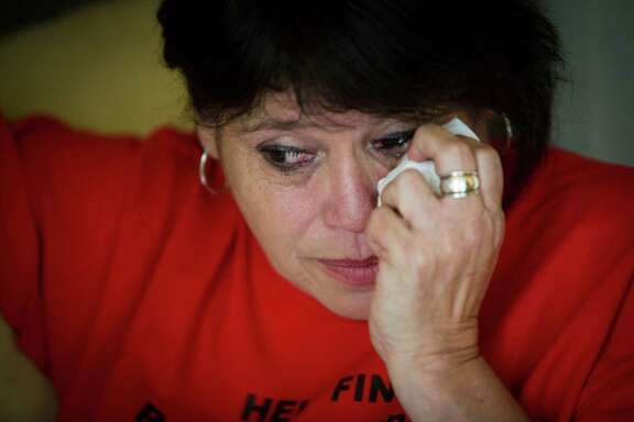 Gloria Esparza of Pasadena, gets emotional at the thought of her missing son Ryan Jacob Esparza.