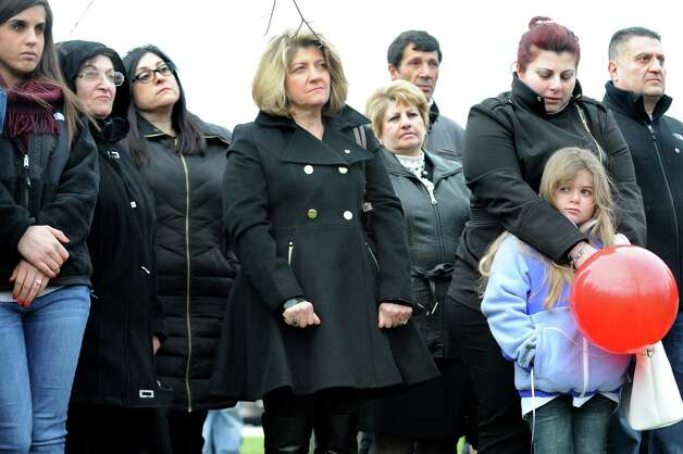 Armenians of the Capital Region gather to remember their forebearers on Friday, April 24, 2015, at Riverfront Park in Troy, N.Y. The event commemorates the April 1915 anniversary of the killing of Armenians by Turks. (Cindy Schultz / Times Union) Photo: Cindy Schultz / 00031582A