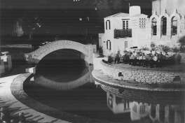 The Arneson River Theater is quiet in this undated night photo.
