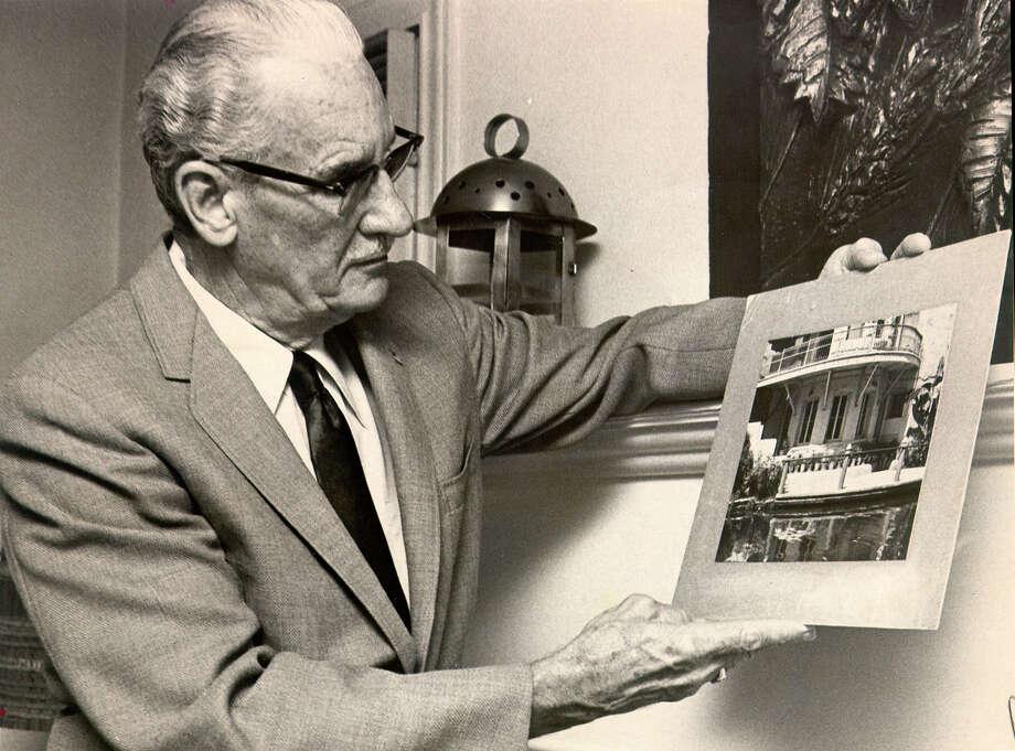 Architect, Robert H. H. Hugman, is the designer and architect of the San Antonio River Walk. Photo: EXPRESS-NEWS FILE PHOTO / EXPRESS-NEWS FILE PHOTO