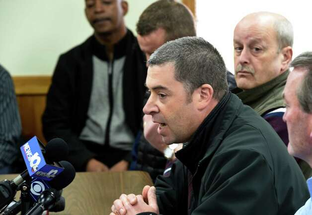 Bethlehem Police Lt. Thomas Heffernan speaks about the bison search during a press conference Friday afternoon April 24, 2015 in Bethlehem, N.Y.        (Skip Dickstein/Times Union) Photo: SKIP DICKSTEIN