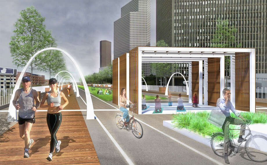 "Proposed plans for a ""Pierce Elevated Park"" along I-45 is getting scrapped. It's not the first cool would-be project to be swept into Houston's ash heap of history.Check out some of these other big plans for Houston that never quite happened ... Photo: Oscar Slotboom / Pierceelevatedpark.com"