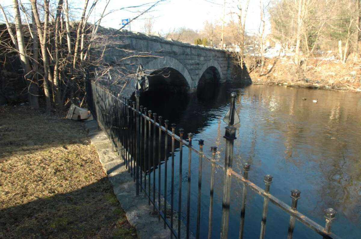The bridge over the Byram River, on Monday, March 1, 2010.