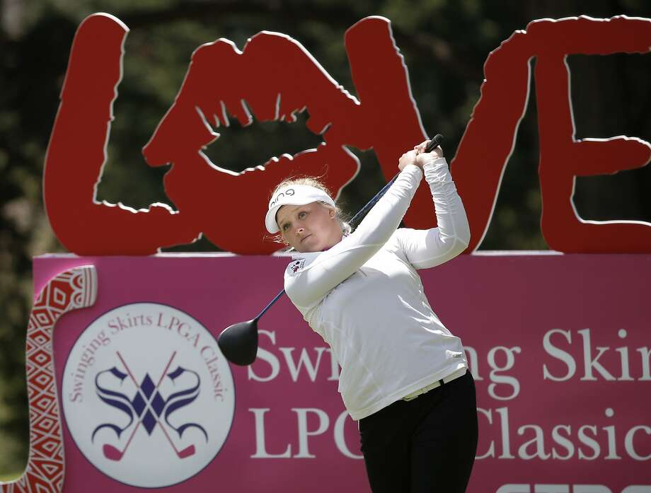 Brooke Henderson of Canada with her tee shot on the sixth hole, during third round action at the Swinging Skirts LPGA  Classic golf tournament at Lake Merced Golf Course in San Francisco, Calif., on Sat. April 25, 2015. Photo: Michael Macor, The Chronicle