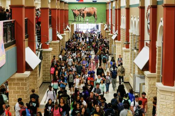 Passing period at George Ranch High School.