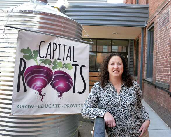Executive director Amy Klein of Capital Roots at their new Urban Grow Center on River St. Thursday April 16, 2015 in Troy, NY.  (John Carl D'Annibale / Times Union) Photo: John Carl D'Annibale / 00031447A