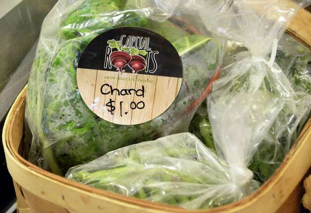 Fresh chard at the produce market in Capital Roots' new Urban Grow Center on River St. Thursday April 16, 2015 in Troy, NY.  (John Carl D'Annibale / Times Union) Photo: John Carl D'Annibale / 00031447A