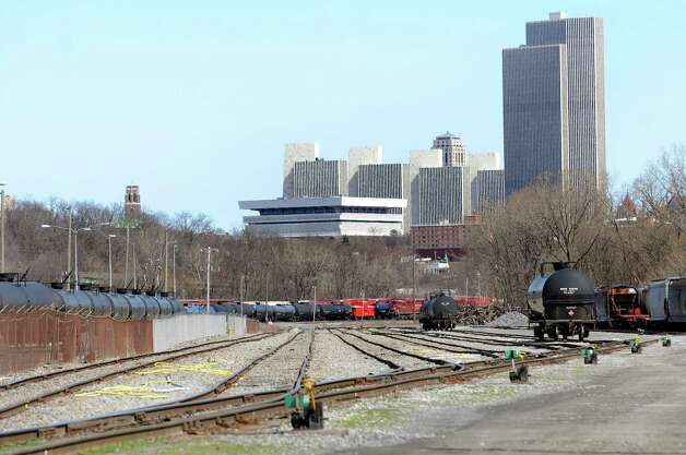 Oil trains on Tuesday, April 14, 2015, at the Port of Albany in Albany, N.Y. (Cindy Schultz / Times Union) Photo: Cindy Schultz / 00031394A