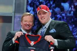 Since posing with NFL commissioner Roger Goodell after being drafted in 2011, Wisconsin's J.J. Watt became the exception to the rule with the Texans as NFL Defensive Player of the Year.
