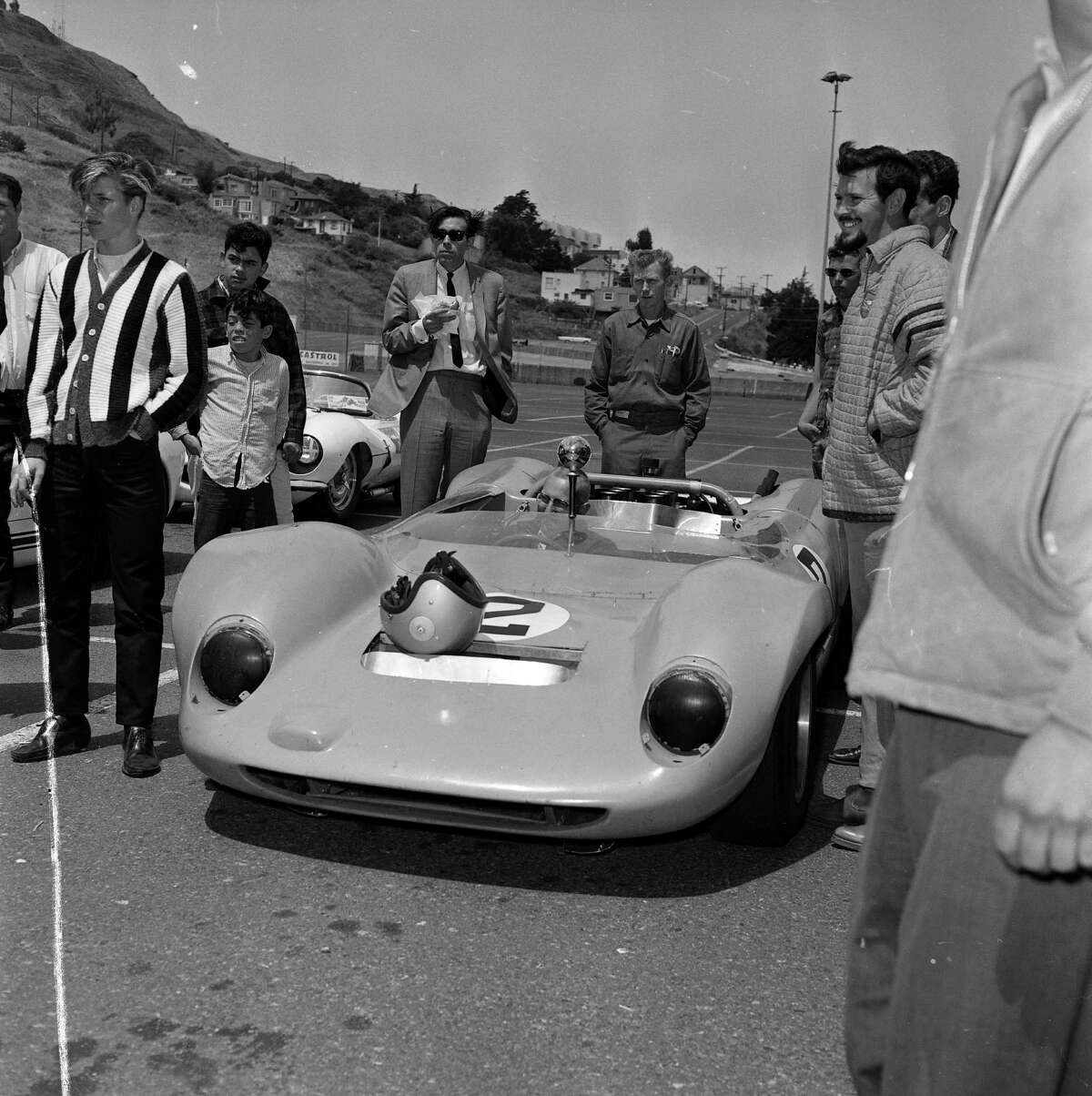 Auto racing at Candlestick Park Pre crash racing negative envelope stamped 08/07/1965 the car race car driver Bart Martin, one of the favorites