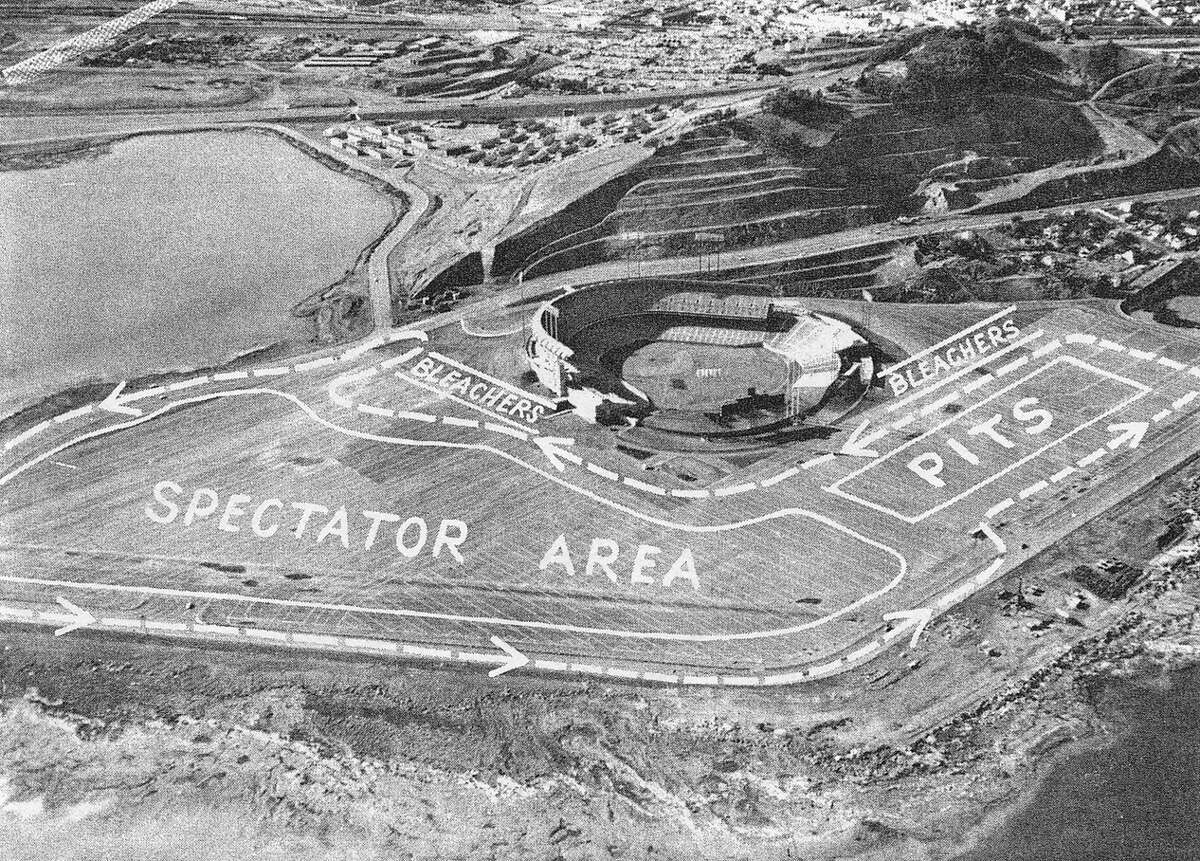 The SCCA course at Candlestick Park, 1963-1964.