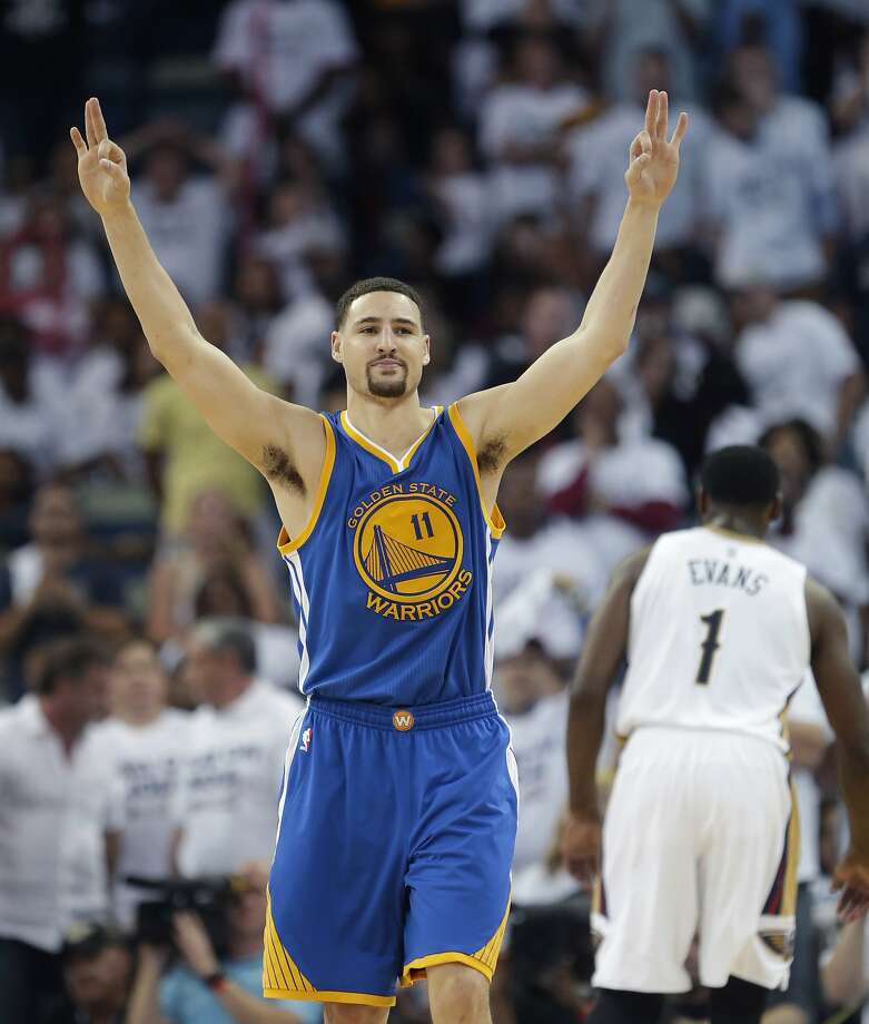 Klay Thompson is good in his own right, but stopping him and Stephen Curry together four times in a series will be tough, TV analyst Jon Barry says. Photo: Gerald Herbert, Associated Press