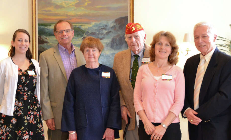 At Home In Darien celebrated National Volunteer Week recently by hosting a luncheon in appreciation of all of their volunteers. Friendly Visitors, Shoppers, Drivers and Helpers provided 999 hands on hours of assistance and service in 2014. Among the volunteers recognized were, from left: Allison Marston, Ron Safran, Carol Reed, Gene Coyle, Judy Stoddard and Board Vice President Peter Eder. Photo: Contributed Photo / Darien News