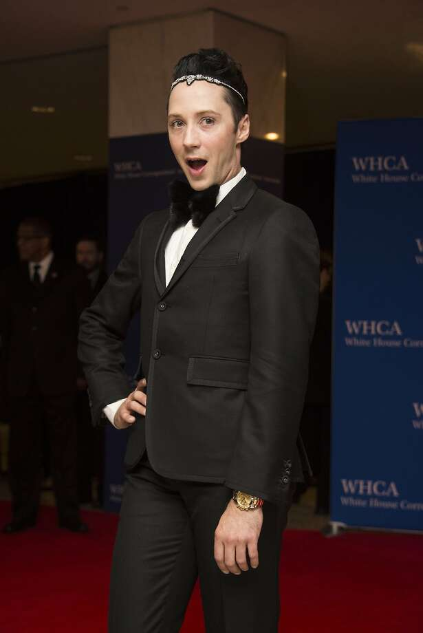 Figure skater Johnny Weir arrives at White House Correspondents' Association (WHCA) annual dinner in Washington, DC. Photo: Nicholas Kamm, AFP / Getty Images