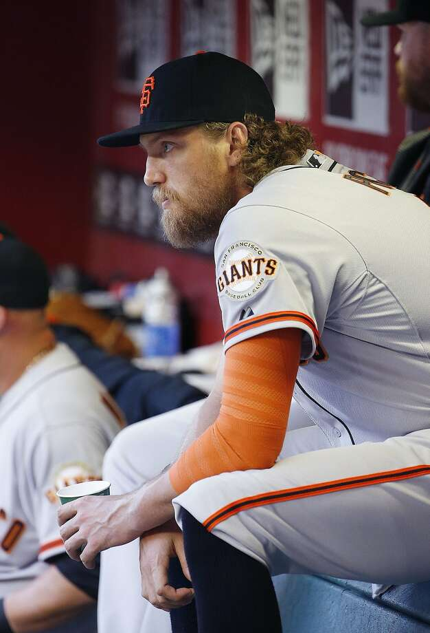 The return of Hunter Pence, who is out with a broken arm, could give the Giants a boost. Photo: Ross D. Franklin, Associated Press