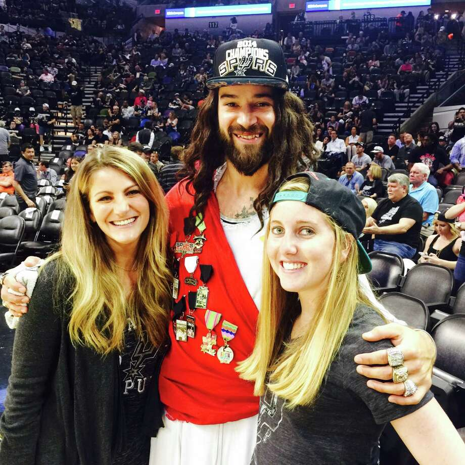 Spurs Jesus comforted the woes of Spurs fans during the wrenching loss of game 4 to the Clippers. Photo: By Spurs Jesus, For MySA.com